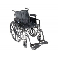 Wheelchair  Fixed Arms 18  Swing-Away Footrests Dual Axle