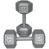 Dumbbell  Steel  Hexagonal 35 pound