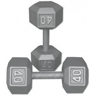 Dumbbell  Steel  Hexaganol 40 pound