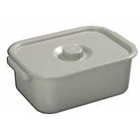 Commode Pail Bariatric Gray
