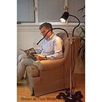 Magnifier/Lamp With Stay-Cool Lamphead  Desk Model-Black