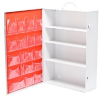 Empty 1st Aid Cabinet-White Metal for 100 Person