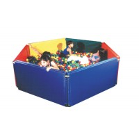 Panel Sided Ball Pit  6' x 6�' w/3500 Large Balls