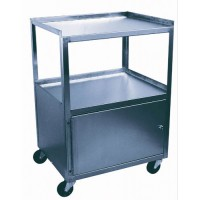 Cabinet Cart  St/S 2-Shelf Single Locking