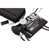 Aneroid Blood Pressure with Dual Head Stethoscope  Black