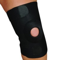 Blue Jay Adj Knee Support Open Patella Design  Black  Lg/Xlg