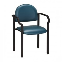 Patient Chair w/Arms Black Frame