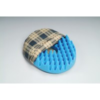 Convoluted Foam Softeze Ring 16.25  x 14 1/8   Plaid Cover