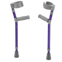 Pediatric Forearm Crutches(pr) Knight Blue 4'4 -5'5  Ht