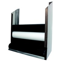 Foam Roll Wall Storage Rack Polished Stainless Steel