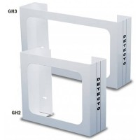 Glove Box Holder  Wall Mount Holds 2 Boxes White