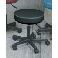 Pneumatic Mobile Stool 17.25  to 21.25  Black