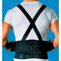 9  Back Belts With Suspenders Black X-Small  SportAid
